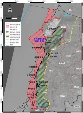雲林縣一級海岸防護計畫草案公開閱覽圖1200_圖示