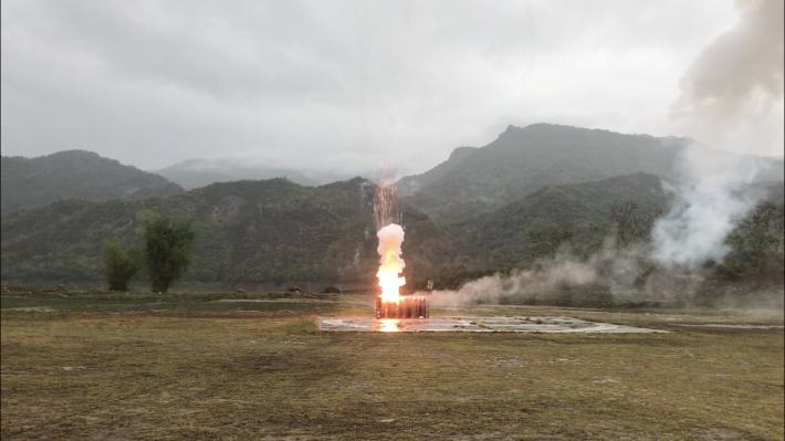 1100530-曾文高空焰彈增雨作業2_圖示