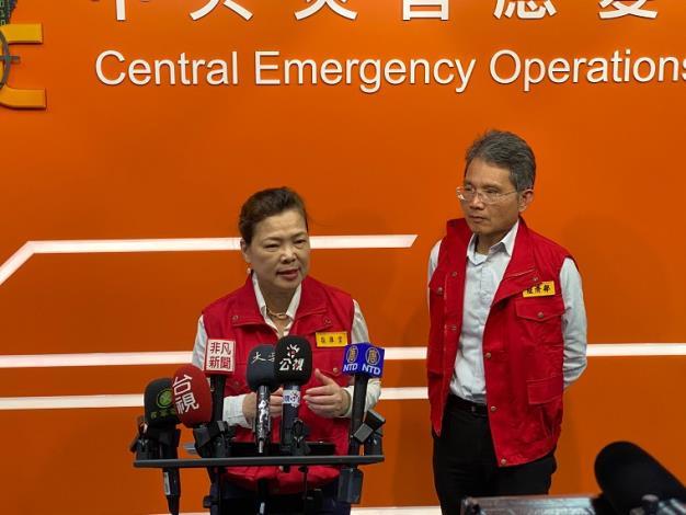部長主持109年旱災中央災害應變中心第一次工作會議_圖示