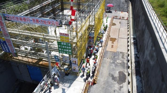 打造優質施工環境暨安全施工平台-湖山水庫原水管工程_圖示