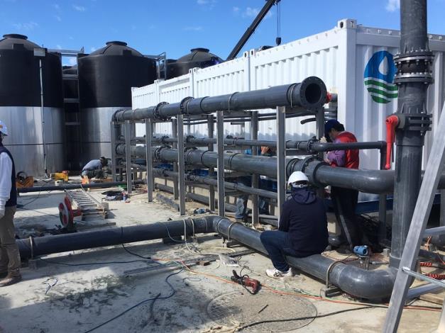 新竹南寮緊急海淡機組已在1月底達成第一階段產水目標1_圖示