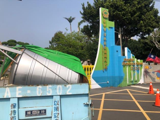 經濟部協助調度及媒合採購,水塔供應免驚-台水公司調度水塔載運至學校1_圖示