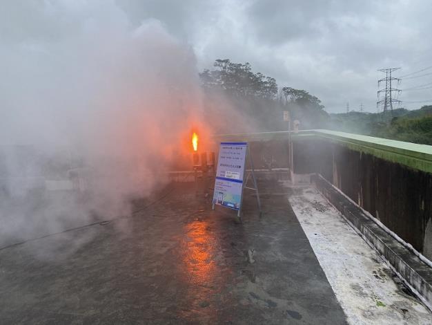 找水增雨每一滴水都不放過  今早水利署於寶二水庫啟動人工增雨施作_圖示