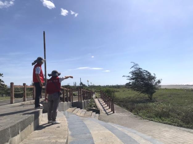 彩雲颱風來襲水利署防汛整備已到位-八河局加強檢視堤防1_圖示