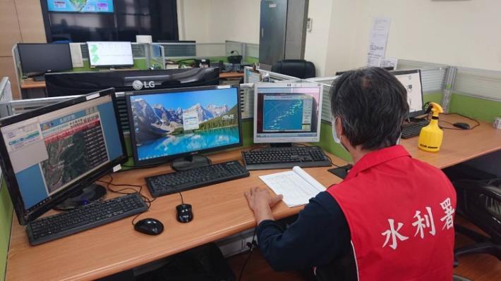 彩雲颱風來襲 水利署防汛整備已到位-北水局加強水利設施設備檢查_圖示