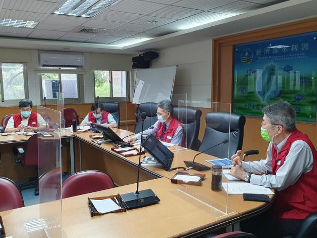 經濟部水利署及各所屬機關召開防汛視訊會議1_圖示