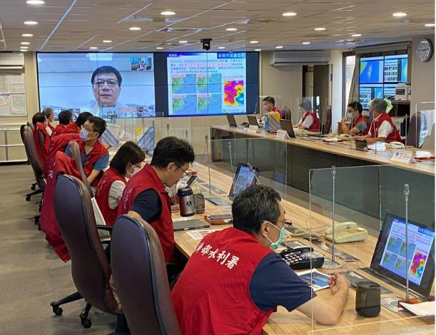 經濟部水利署及各所屬機關召開防汛視訊會議5_圖示