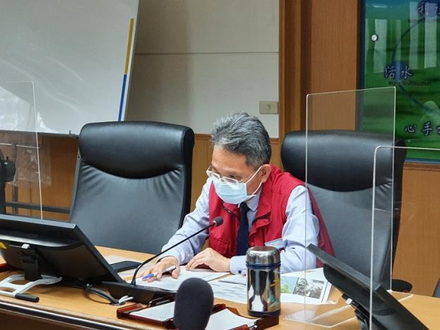 經濟部水利署及各所屬機關召開防汛視訊會議_圖示