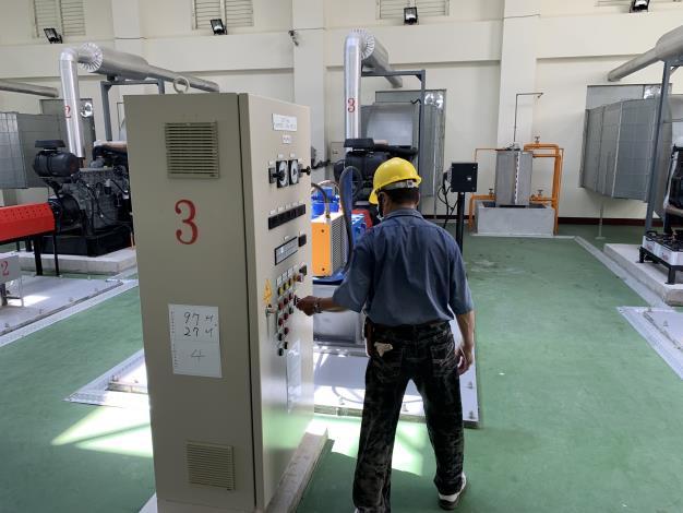 水利署加強巡檢水利建造物及防汛整備確保安全-檢查抽水機機電設備_圖示