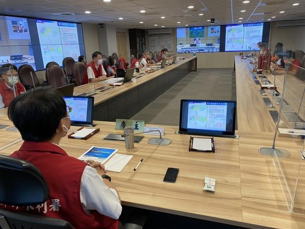 因應烟花颱風水利署召開防汛整備視訊會議1_圖示