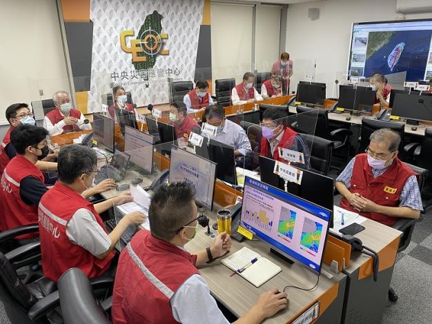 0806水災中央災害應變中心第二次工作會報暨情資研判會議1_圖示