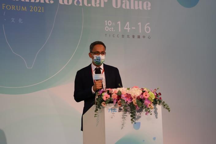 水利署舉辦2021台灣國際水週國際論壇-荷蘭在臺辦事處譚敬南代表致詞_圖示