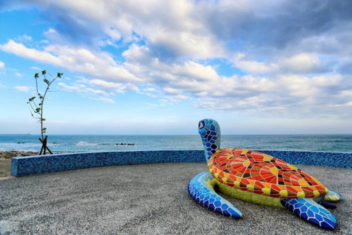 南濱超萌的海龜,一定要來拍照喔!_圖示