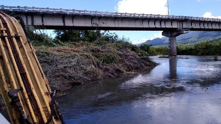 酸柑排水與秀姑巒溪匯流口清淤_圖示