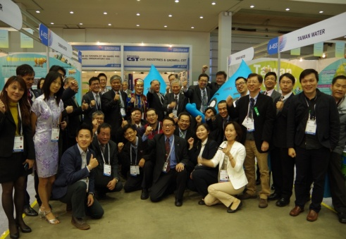 Taiwan team group photo in the opening of Taiwan Water pavilion
