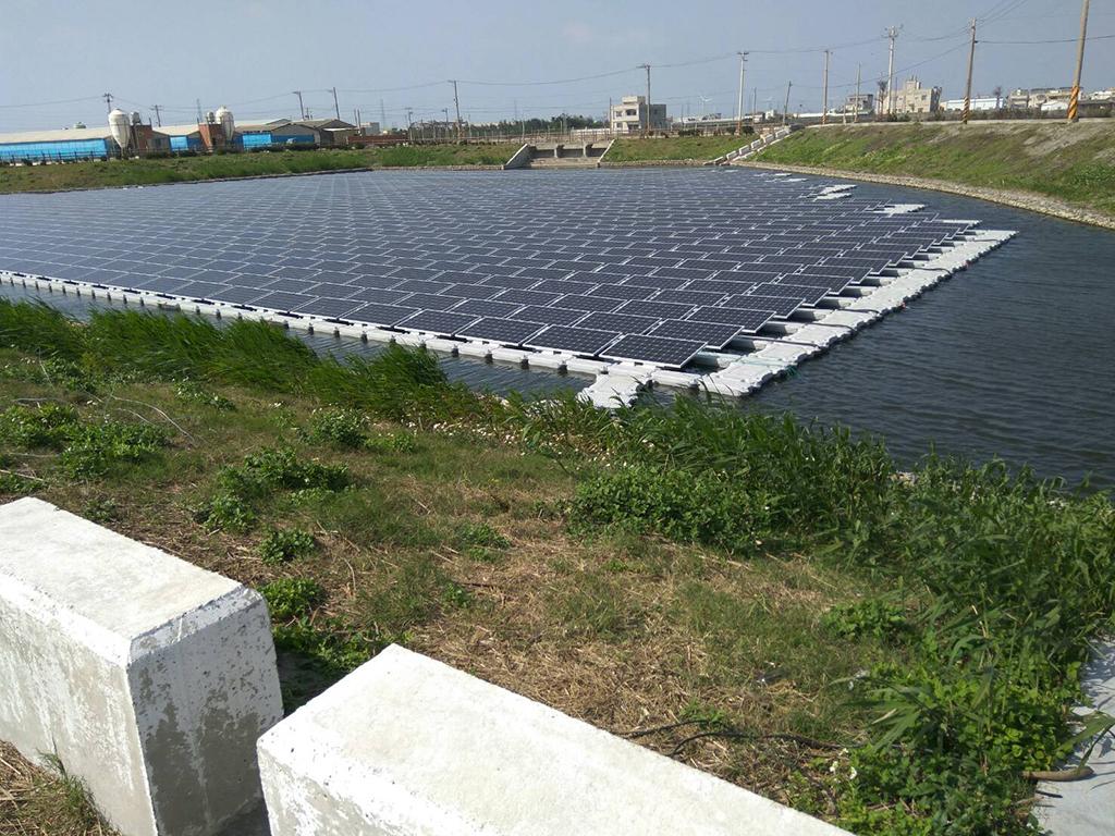 草港尾滯滯洪池水域型太陽光電發電系統線路彙整上岸_圖示