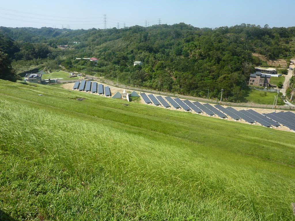 遠眺寶山第二水庫太陽光電發電系統_圖示