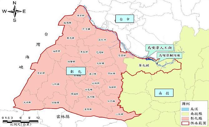 鳥嘴潭人工湖計畫位置圖