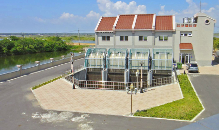 Engineering project for drainage improvement in Luermen, Tainan city