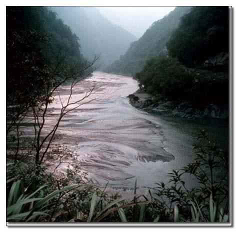濁水溪與丹大溪會合點_圖示