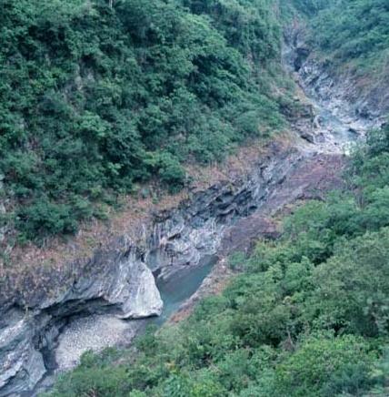 鹿野溪上游峽谷景觀_圖示