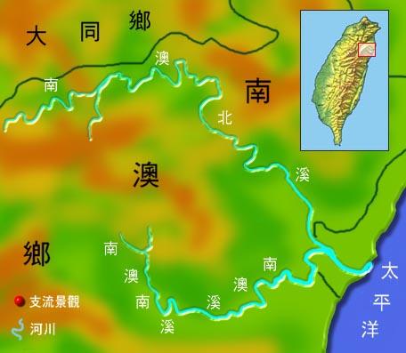 南澳溪水系地理圖_圖示