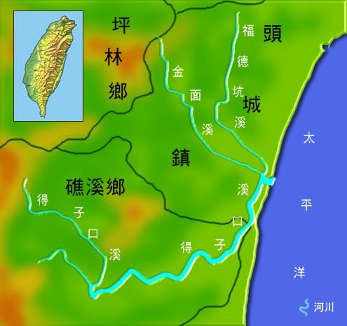 得子口溪水系地理圖_圖示