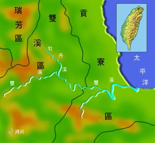 雙溪水系地理圖_圖示