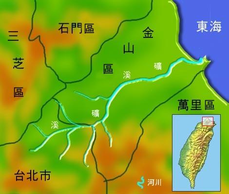 礦溪水系地理圖_圖示