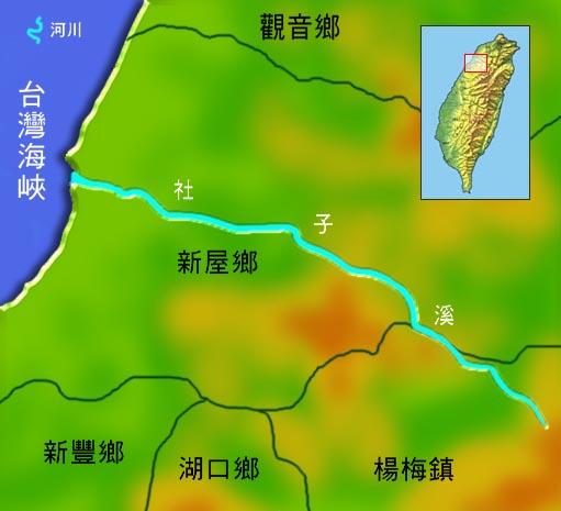 社子溪水系地理圖_圖示