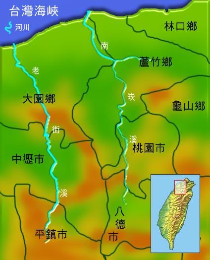 南崁溪老街溪水系地理圖_圖示