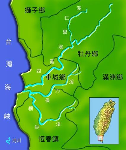 保力溪水系地理圖_圖示