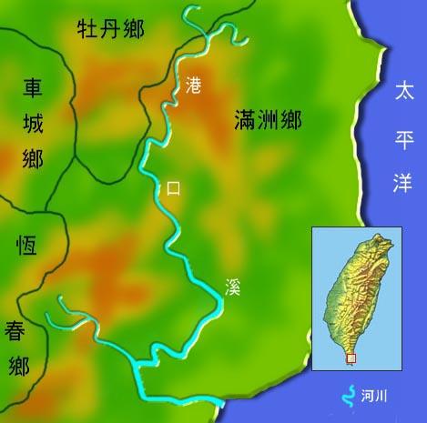 港口溪水系地理圖_圖示