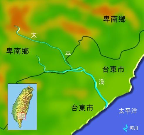 太平溪水系地理圖_圖示