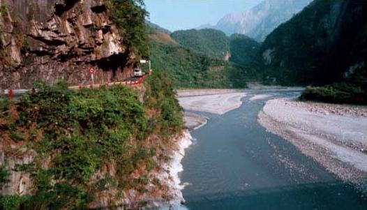 立霧溪錦文橋段是太魯閣峽谷的起點_圖示