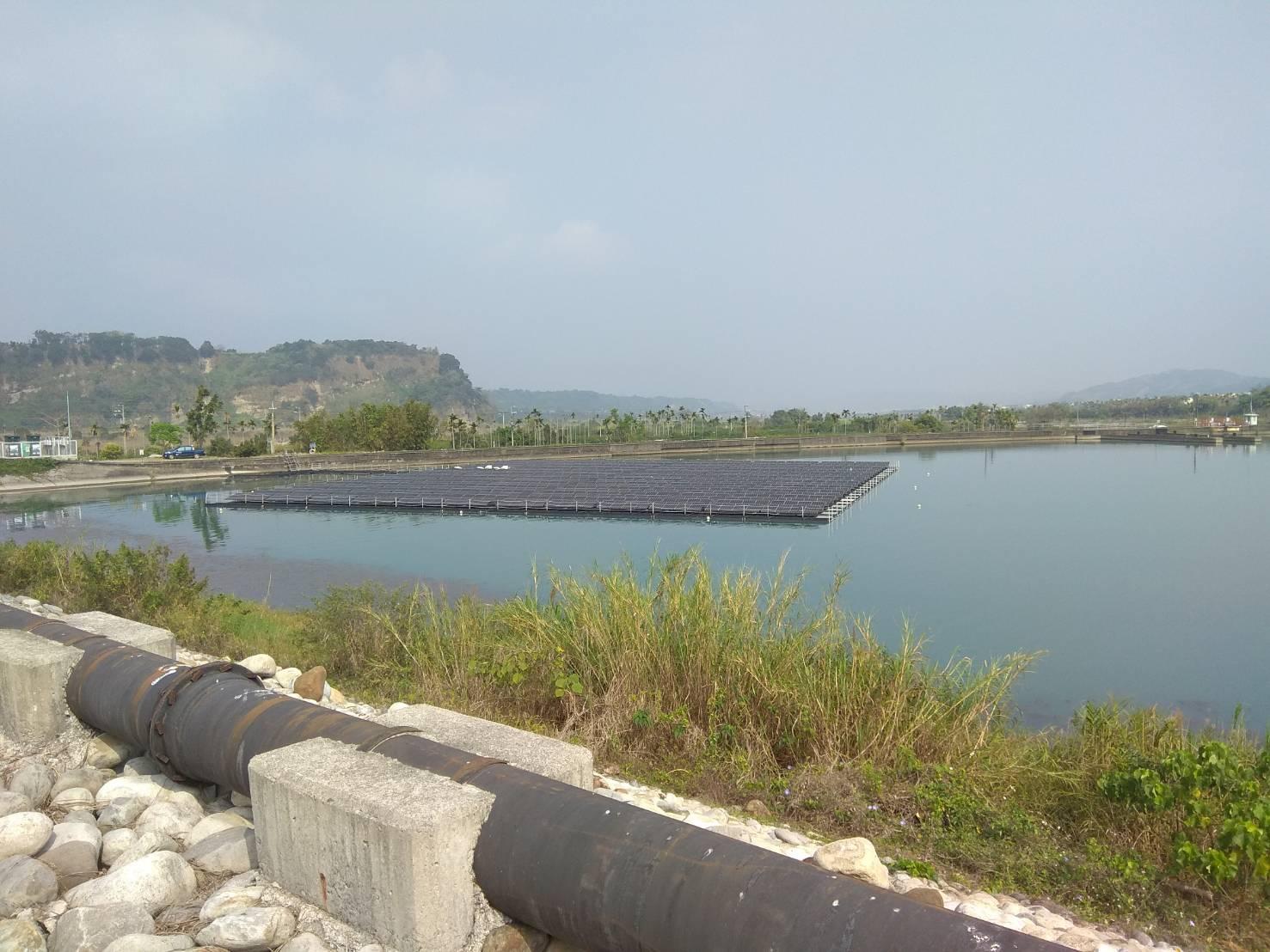 馬鞍壩後池水域型太陽光電_圖示